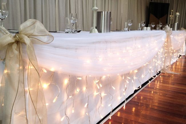 Dressing Your Top Table: Icicle Wedding Lights - Fairy Lights & Fun
