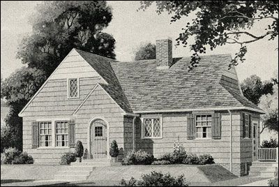Minimal Traditional. 1925-1950. The more ornamented, distinctive styles of the 1920s such as English Revival or Spanish Eclectic were stripped of all unnecessary details and marketed as Modern American, Modern English, or Modern Colonial cottages. These small homes replaced the craftsman-style bungalows of previous decade, which by early 1930s were considered out of date and hopelessly old-fashioned. Because they were small, they were also affordable by many working and middle-class…