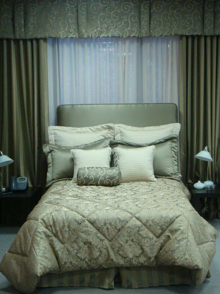 Matching drapery, headboard and bedding!