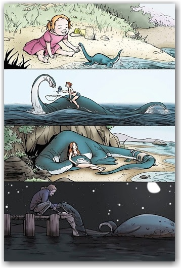 """""""A Girl and Her Sea Monster"""" - A beautiful inspiration with my own poem."""