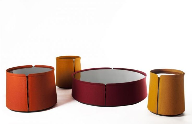 Corum tables designed by Joelle Rigal for Roche Bobois