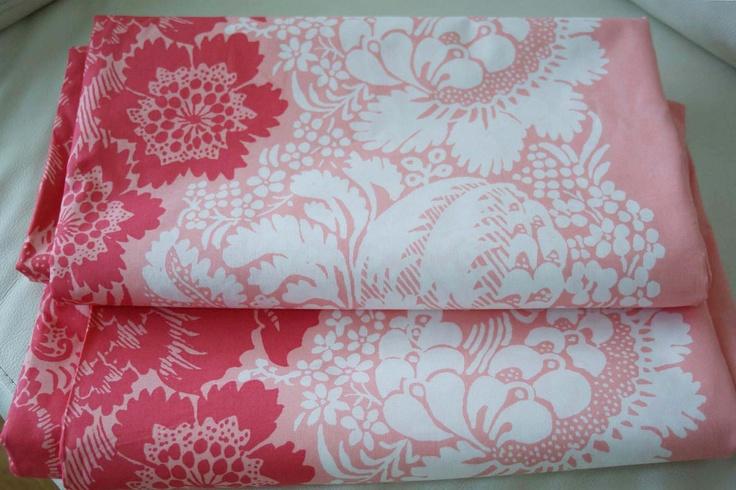 "Marimekko Ananas Cotton Fabric 133"" x 57"". $99.00, via Etsy -- this SHOUTS to me!!!"