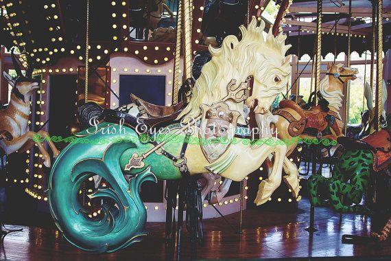 Carousel Sea Horse seahorse Nursery decor by IrishEyesPhotographs