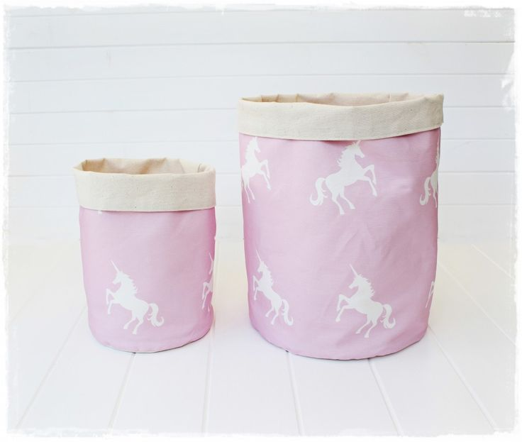 Unicorns Pink - Fabric Storage Baskets - Willow & The OwlWillow & The Owl