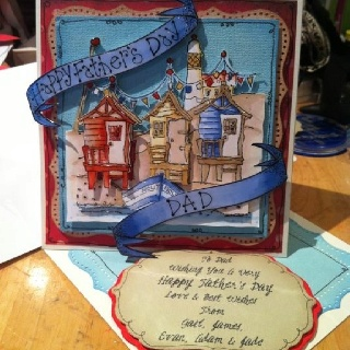 Handmade by Gail Wolfe using Michael Powell stamps
