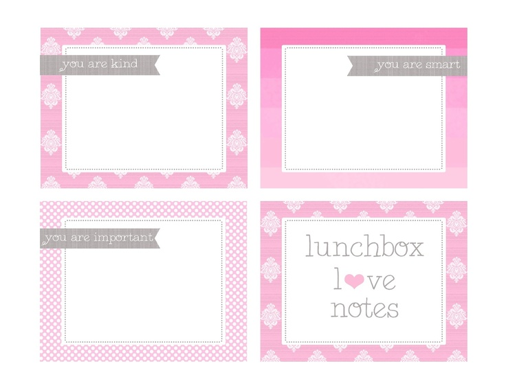 Lunchbox Love Notes - Free Printable