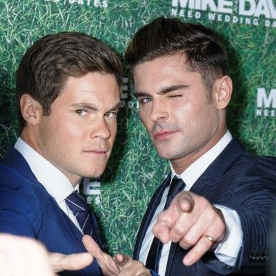 Zac Efron and Adam DeVine new movie, Mike and Dave Need Wedding Dates, was released earlier this month, and the two are actually great friends who hang out off-set. #ZacEfron #AdamDeVine