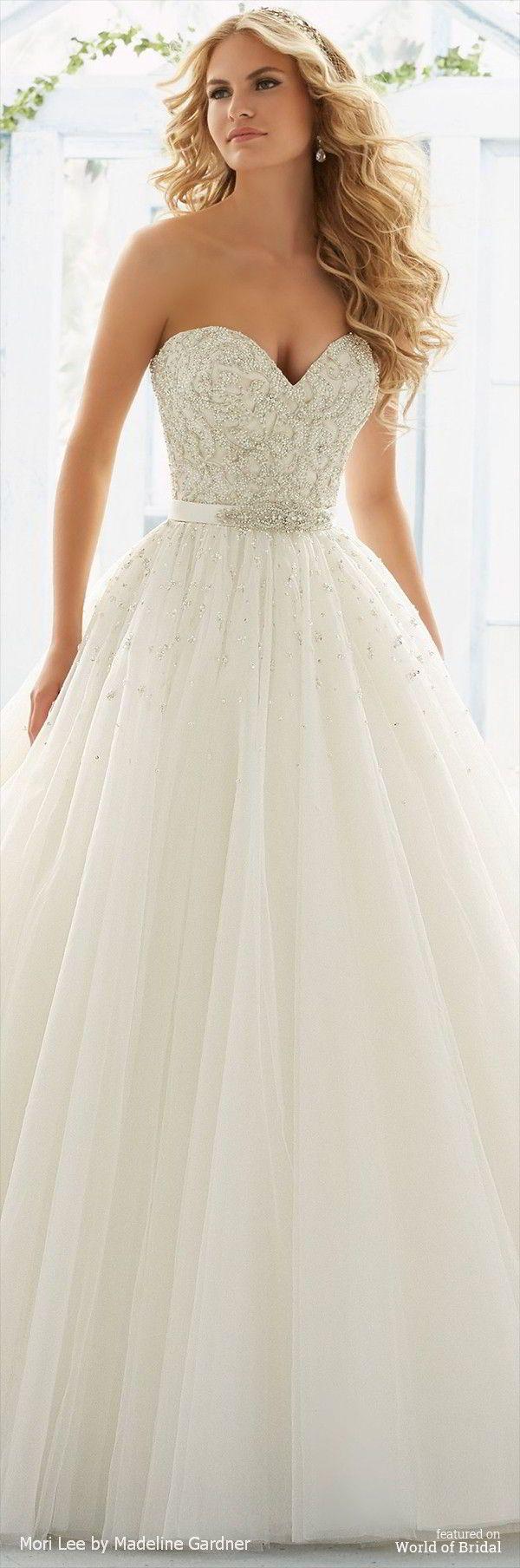 Mori Lee por Madeline Gardner Primavera 2016 vestido de novia