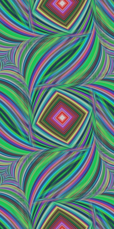 Repeating squared fractal pattern of striped happy colors