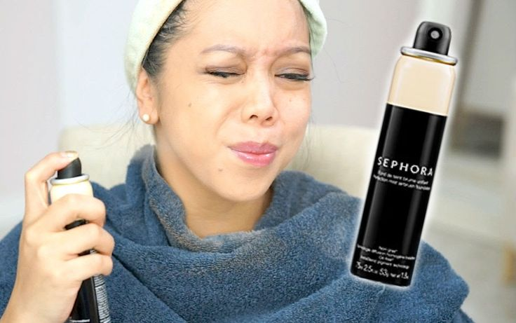 """NEW"" SEPHORA Perfection Mist Airbrush Foundation - definitely would apply it with a brush like Judy suggested but the results are BEAUTIFUL!"