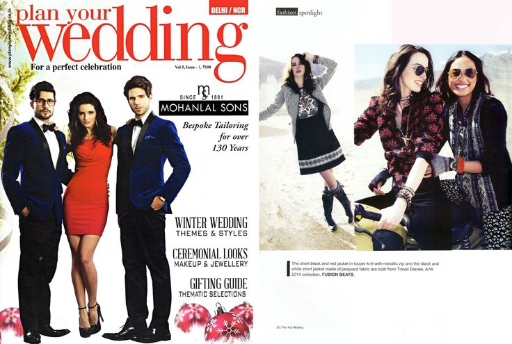 Our Autumn Winter collection gets featured in the November issue of Plan Your Wedding magazine. Check it out.