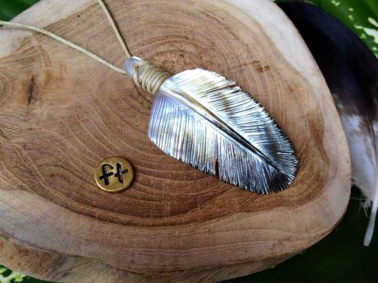 Black Pearl Eagle Down Feather Pendant Necklace by Feathertribeme