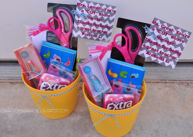 """Teacher Appreciation Gift Basket with Scissors and saying. """"Mrs. blank You're a cut above the rest!"""": Appreciation Ideas, Gifts Baskets, Cute Teacher Gifts, Gifts Ideas, Gift Ideas, Cute Ideas, Teacher Appreciation Gifts, Crafts O' Maniac, Teachers"""