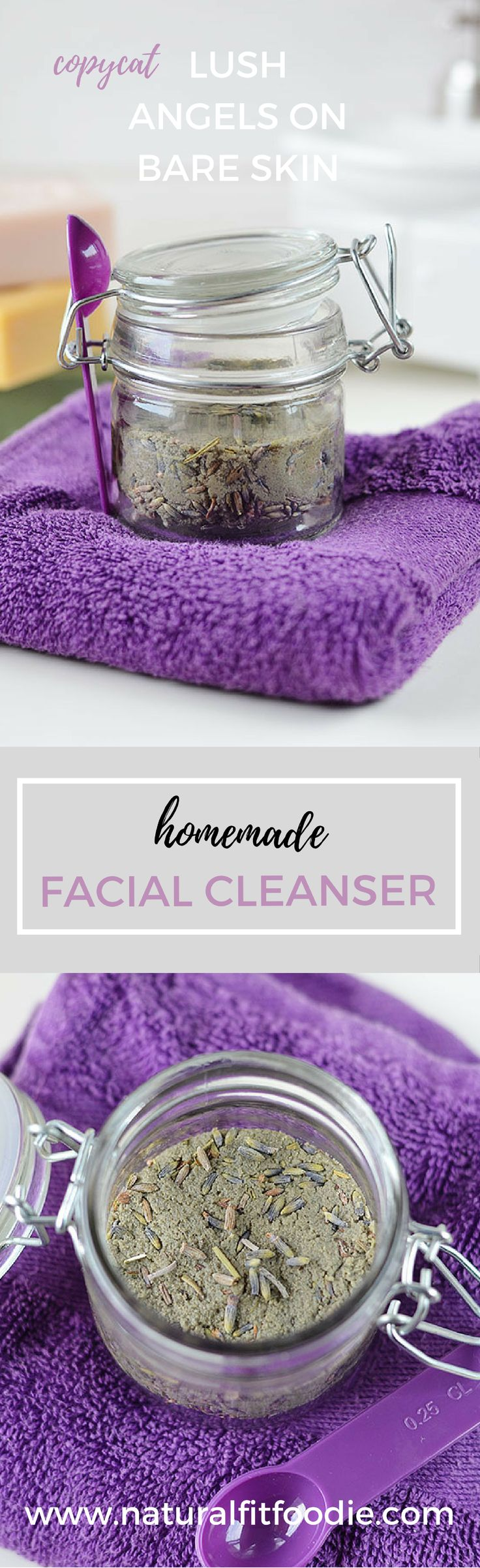 5 simple ingredients is all you need to make this soap free Homemade Facial Cleanser! It's a gentle but very efficient cleanser that will leave your skin with a natural healthy glow!