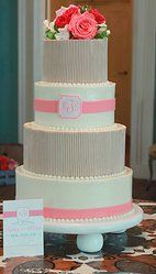 Love this design. Delicious Desserts South Carolina Wedding Cakes.