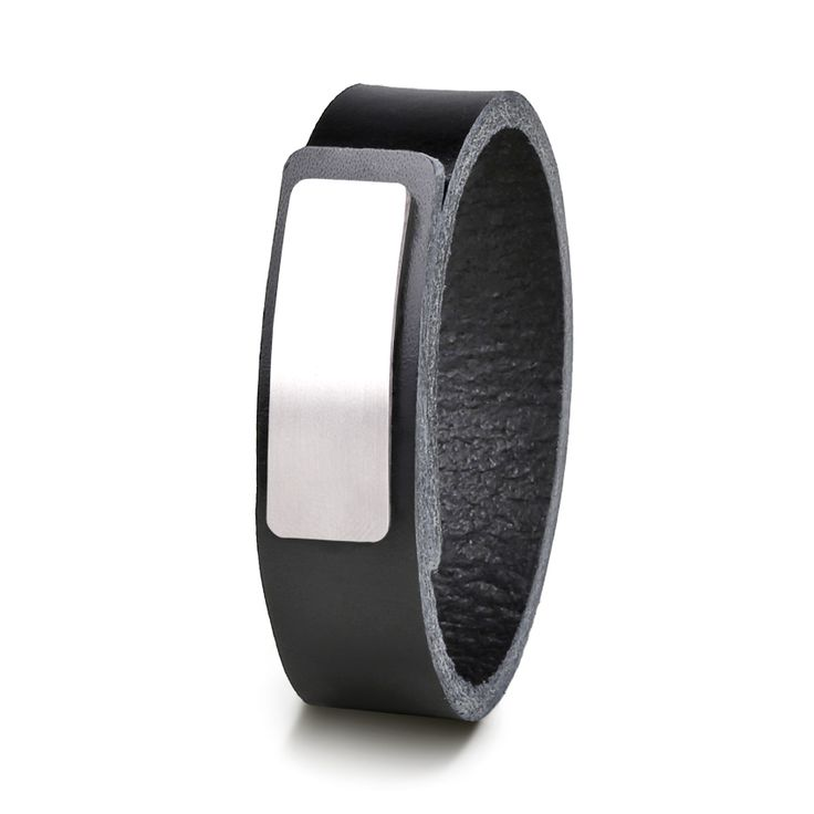 Wear Clint - Tuigleren armband (18mm / zwart) met RVS-sluiting.  Een stoer design voor mannen en vrouwen!