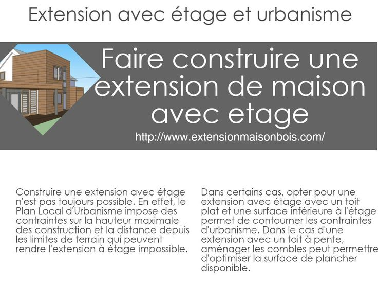 The 25+ best ideas about Extension De Maison on Pinterest - cout d une construction maison