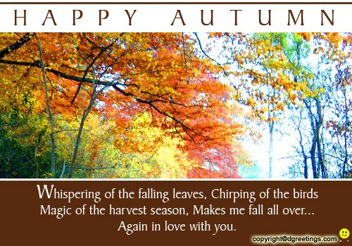 Dgreetings    Send this Autumn Card to your beloved...