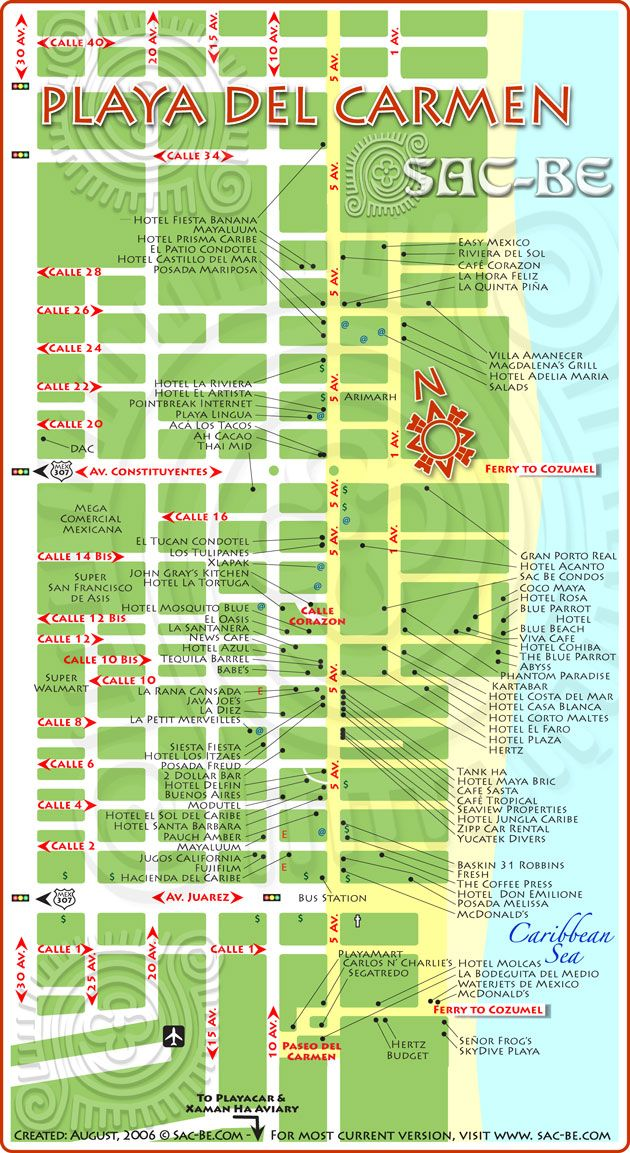 Playa del Carmen map