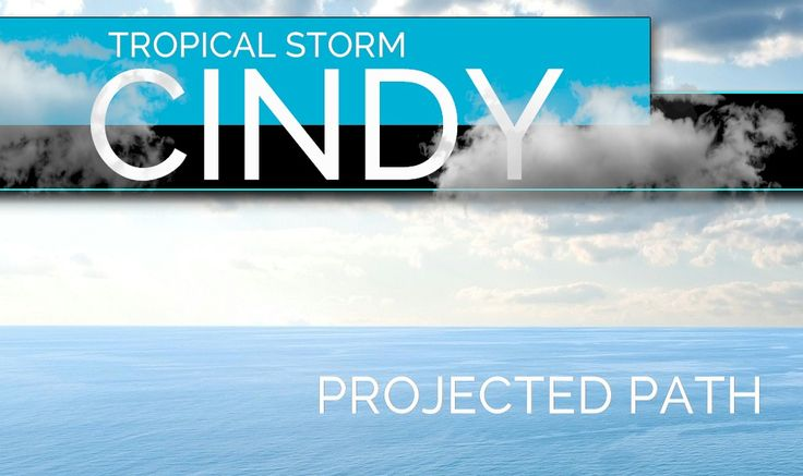 Tropical Storm Cindy 2017 Projected Path, Hurricane Center Update