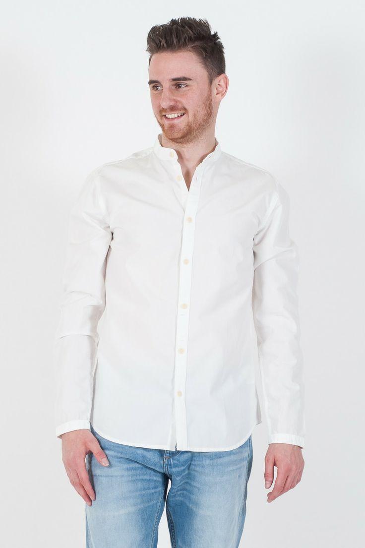 #Camicia da #uomo Originals by #Jack&Jones.  - Collo Coreana - Slim Fit - 100% Cotone - Lavaggio 40°C