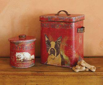 Rustic dog cookie jars