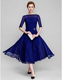 Lanting+A-line+Mother+of+the+Bride+Dress+-+Dark+Navy+Tea-len...+–+USD+$+89.09