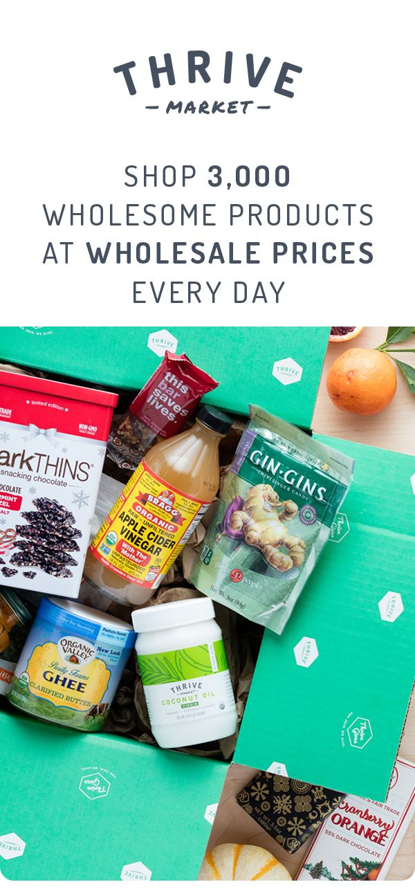 On a mission to make healthy living easy and affordable for everyone, Thrive Market offers healthy products at 25-50% off with delivery right to your door. Save on the best-selling natural, organic, non-toxic, and gmo-free products every day. Start for free today!