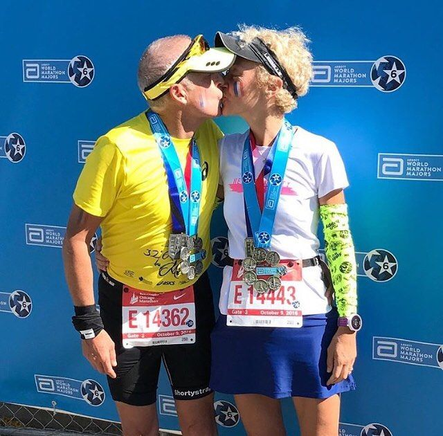 Love transcending all barriers...Congratulations Stephane and Isabelle for your sixth Abbott World Marathon Major completed together  . . . . . Follow us use hashtag #wonderfulrunning and join the movement . . . . . . . . .  @abbottwmmajors