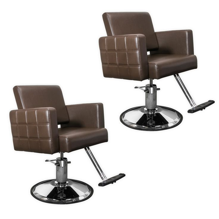 Quilted Brown Havana Hair Salon Stylist Chair Two Chair Package product image