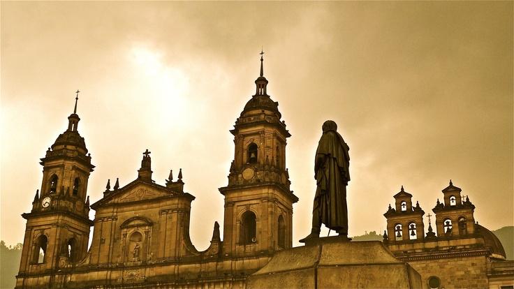 Plaza de Bolivar, La Candelaria Centro de Bogota, Colombia.