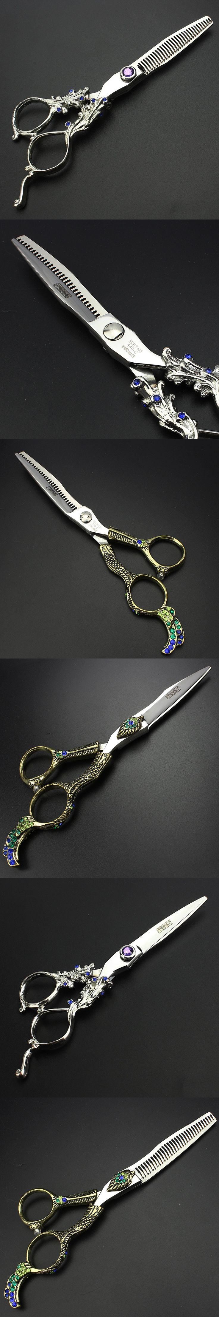 6 inch Color diamond hair scissors  hairdressing tool barber shop supplies hair shears for hairdresser making coiffure 4 design