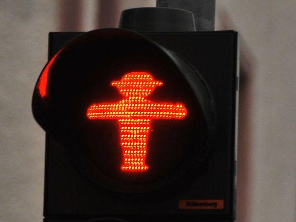 Funny Traffic Signs: Pedestrian Lights in Berlin Germany Ampelmännchen