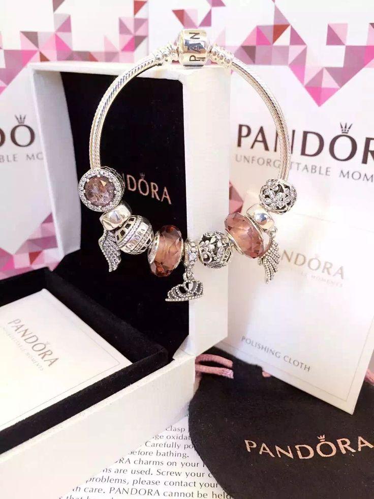 50% OFF!!! $239 Pandora Charm Bracelet Pink. Hot Sale!!! SKU: CB01844 - PANDORA Bracelet Ideas