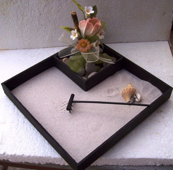 Mini Zen Garden Kit Centerpiece On Etsy, $19.69