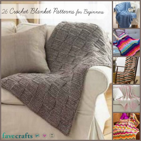 Our favorite free crochet blanket patterns - perfect for beginners