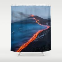 WHEN THE BEACH TURNS RED Shower Curtain  #bestgiftideas