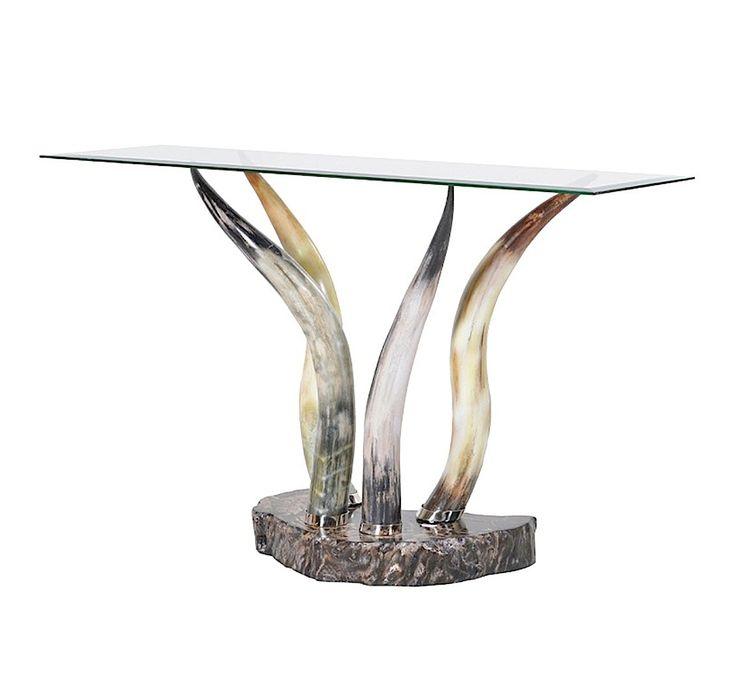 Idaho Horn Leg Console Table