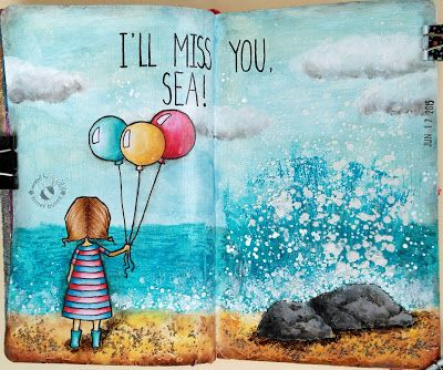 JIJI Cards: Арт журнал: Липсваш ми, моренце! {Art journal: Mis...