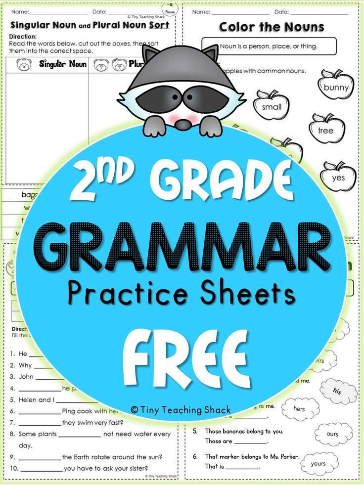 These handy no-prep practice sheets should help your students get extra practice on their grammar. This packet is made for second grade, but it is also suitable for advanced first graders or third graders who need extra help.