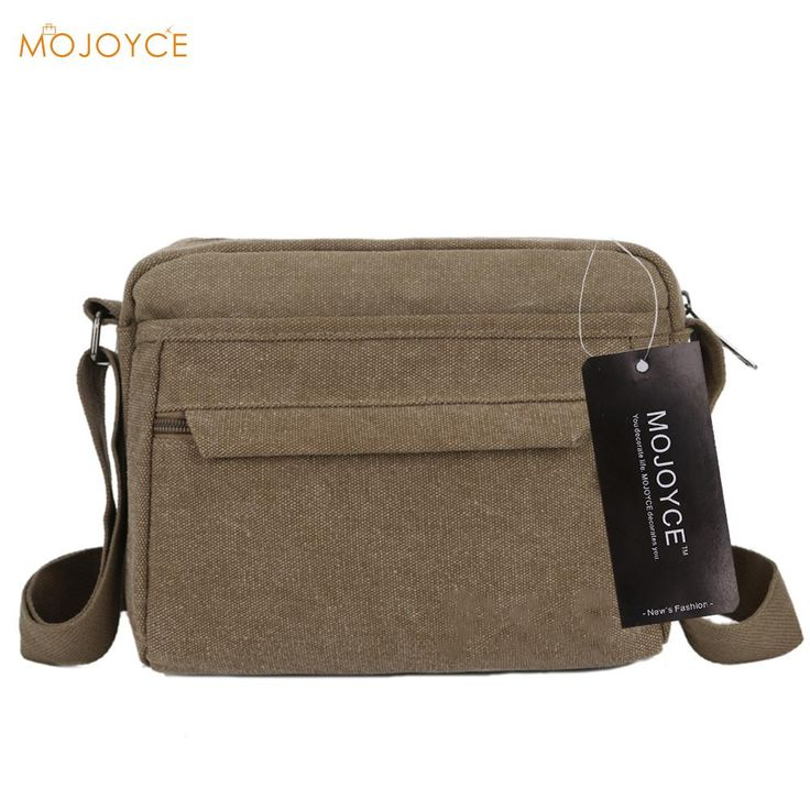 202e29c3caf9 Casual Men Canvas Bags Mini Business Shoulder Bag Luxury Messenger Bag High  Quality Shoulder Bag Casual