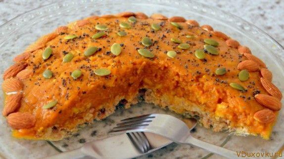 Сыроедческий пирог из тыквы и орехов / Вегетарианские и сыроедческие рецепты