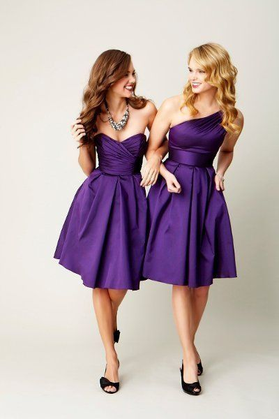 royal purple wedding purple bridesmaid dress www.
