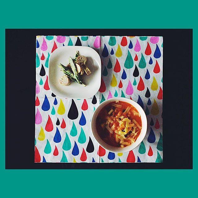 2016/11/11 09:16:34 umino_yuki 朝から野菜たくさん。下はペーパーだけ…💦 ✔︎アスパラガスと魚肉ソーセージのサラダ ✔︎野菜ごろごろトマト豆乳スープ #朝ごはん #野菜 #サラダ #スープ #ヘルシー #美容 #健康 #豆乳 #トマト #温活 #breakfast #vegetables #salad #soup#healthy #diet #soymilk #tomatoes #instafood #instapic #instabeuty #instagood #voce  #美容