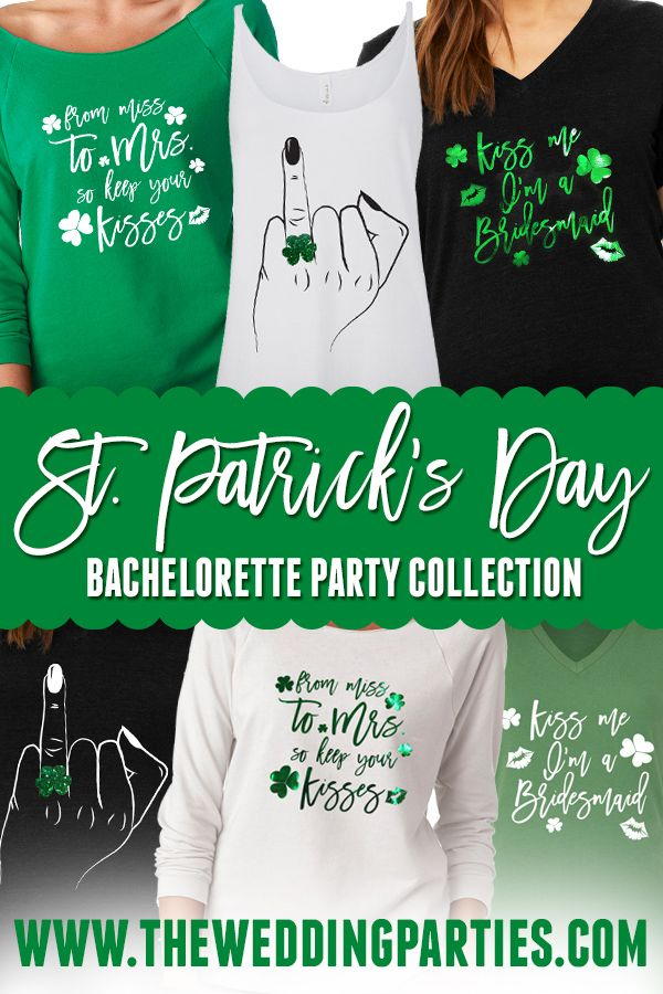 4f0310ae9 St. Patrick's Day Bachelorette Party collection at TheWeddingParties.com  T-Shirts & Tank Tops for the bride and her besties #bridetobe # bacheloretteparty ...