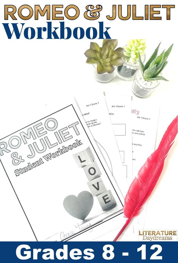 Check Out This Romeo And Juliet Workbook It Is Cramped Full Of 80 Pages Of Activities To Guide Teaching Shakespeare Romeo And Juliet English Teacher Resources
