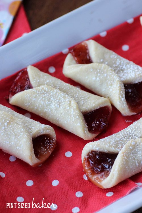 Jam Kolaches Recipe ~ You could totally make these with strawberry, apricot or blueberry jam to change them up.