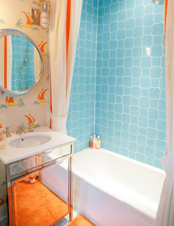 Renew Your Small Bathroom With Modern Decor See More Homemydesign Com   Fresh Orange