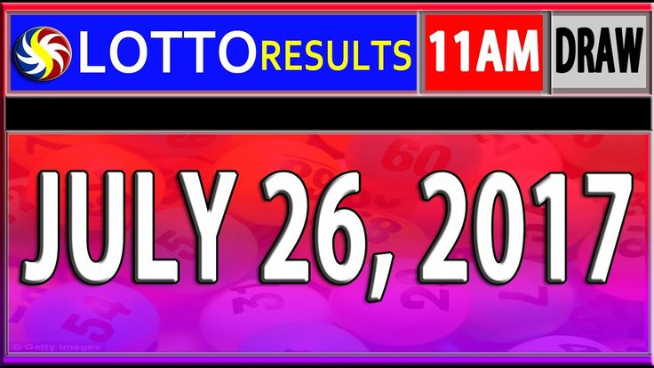 PCSO 11AM LOTTO RESULTS TODAY |  JULY 26, 2017 (SWERTRES & EZ2 LOTTO)