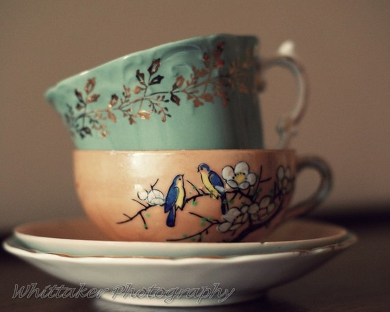 fine art photography golden leaves teacups ~ Whittaker Photography